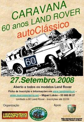 Cartaz autoClássicos 60 anos Land Rover - 2008